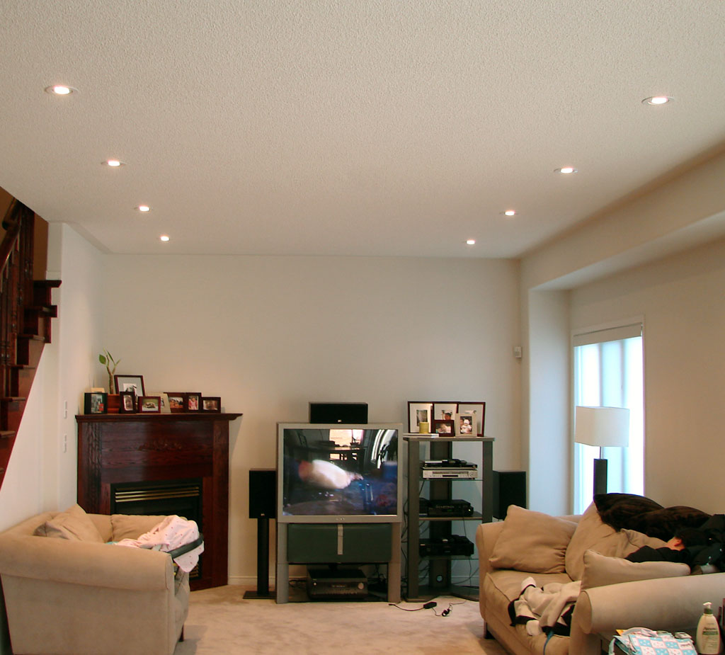 Homes idea: living room lighting design